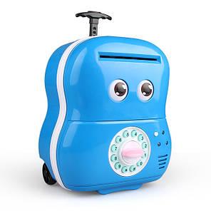 Электронная копилка Чемодан банкомат 363 Голубой, фото 2