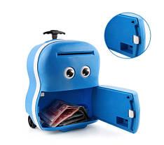 Электронная копилка Чемодан банкомат 363 Голубой, фото 3