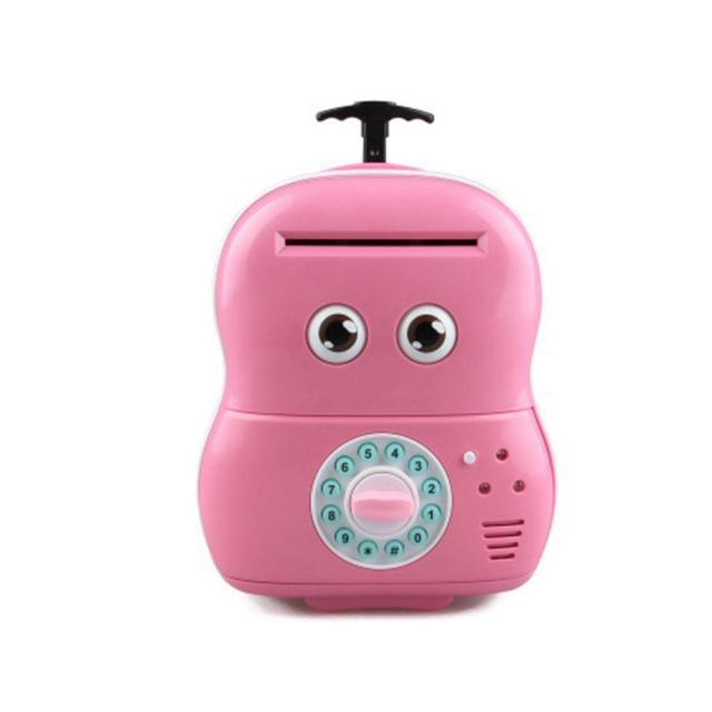 Электронная копилка Чемодан банкомат 363 Розовый