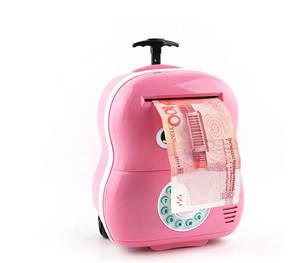 Электронная копилка Чемодан банкомат 363 Розовый, фото 2