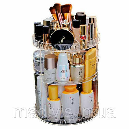 Органайзер для косметики вращающийся прозрачный Cosmet Ics Storage Box Rot at Ive Rack Модель JN-601