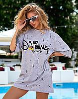 """Плаття-футболка вільного крою з принтом """"Міккі"""", фото 1"""
