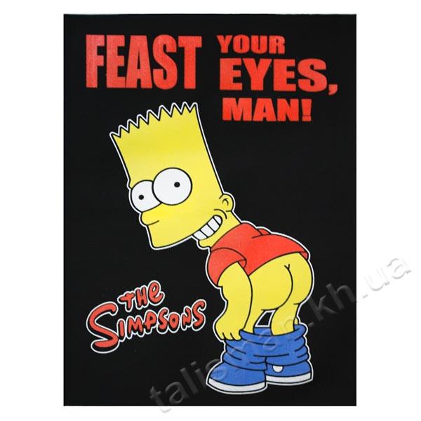 Нашивка катаная большая SIMPSON Барт