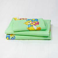 Детское постельное белье Вилюта для новорожденных ранфорс 6112 зеленый