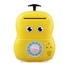 Электронная копилка Чемодан банкомат 363 Желтый