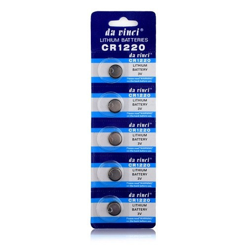 5x Батарейка таблетка CR1220 3V, литий, 100411