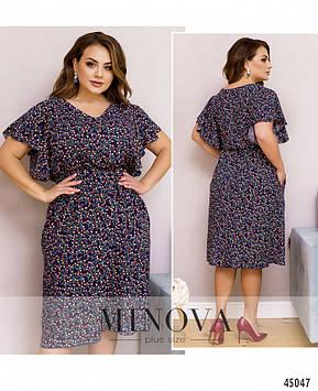 Платье №2259-фиолетовый фиолетовый/50-52