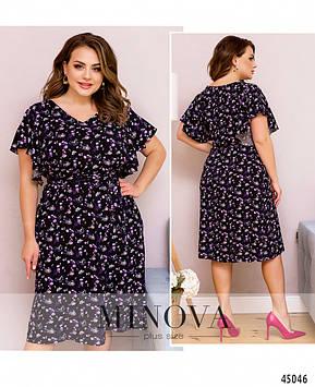 Платье №2259-черный черный/50-52
