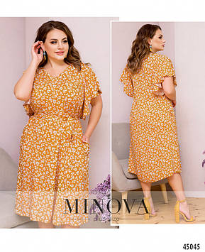 Платье №2259-желтый желтый/50-52