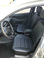 Чохли на сидіння Шевроле Лачетті (Chevrolet Lacetti) модельні MAX-L з екошкіри Чорний Чорно-білий, фото 1