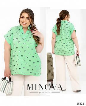 Рубашка №615-мята мята/46
