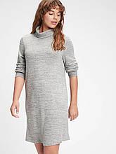 Серое вязаное платье с хомутом GAP туника