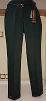 Красивіе темно-зеленые брюки с логотипом на манжете DAS Elit