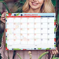 """Магнитный планер """"Monthly planner"""" Berries, 30*42 cm (магнитная доска, многоразовый календарь на холодильник)"""