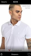 Мужская однотонная футболка поло фирмы Fabregas.Производство Турция.100% хлопок