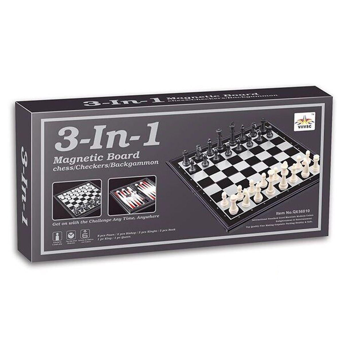 Шахматы магнитные 3 в 1, нарды, шашки