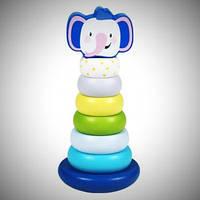 Деревянная пирамидка детская развивающая игрушка