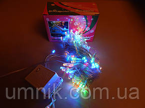 Гирлянда светодиодная LED разноцветная, прозрачный провод, 200 лампочек, фото 3