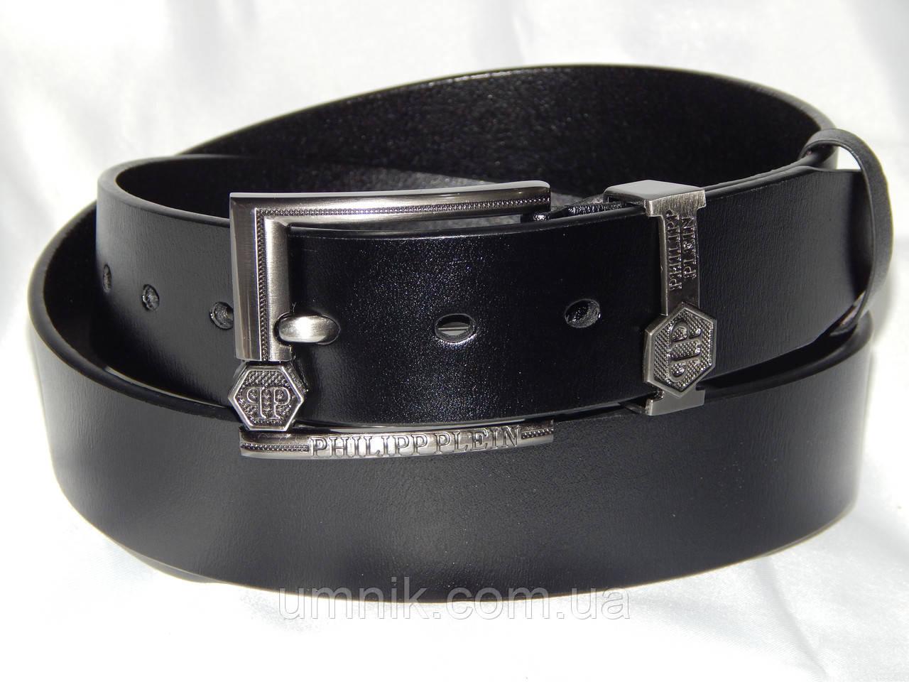 Ремень мужской кожаный PHILIPP PLEIN ширина 40 мм.930596