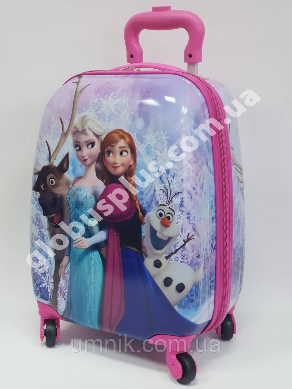 """Детский чемодан дорожный """"Холодное Сердце"""", Frozen на четырех колесах 520291"""