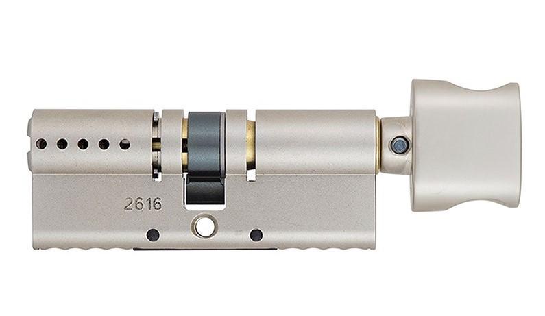 Циліндр MUL-T-LOCK INTERACTIVE + 76 мм (45х31Т) ключ-тумблер матовий хром