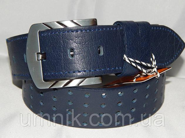 Ремень мужской кожаный классический синий 45 мм 930524, фото 2