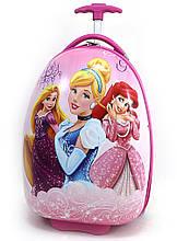 Детский чемодан дорожный на колесах Золушка, Русалочка и Рапунцель, 520445