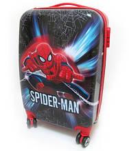 """Детский чемодан дорожный, кодовый замок """"Человек Паук"""" Spider Man 20"""" на четырех колесах 520328"""