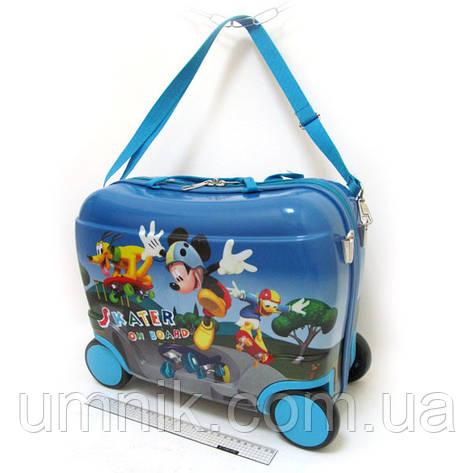 Детский чемодан - каталка на 4 колесах Mickey Mouse, Микки Маус 520350, фото 2