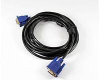 Шнур - перехідник VGA - VGA для монітора і телевізора 3+2, кабель 5м, мідь, кабель VGA