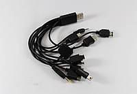 Шнур для телефону 10в1 mini USB, Apple 30-pin, Iphone