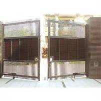 Ворота распашные, комбинированые, фото 3