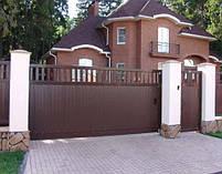 Ворота распашные, комбинированые, фото 4