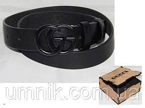 Ремень мужской кожаный в коробке GUCCI ширина 40 мм. 930541