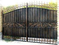 Ворота распашные, комбинированые, фото 7
