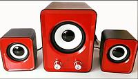 Компьютерные колонки 2.1 S.Y IS-12 Red (4127)