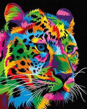 Картины по номерам 40х50 см Brushme Пятнистый леопард (GX 35773)