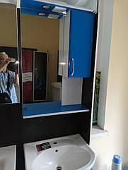 Дзеркало З-05-56 блакитне (560*170*825) праве з підсвічуванням, ТМ Ніколь