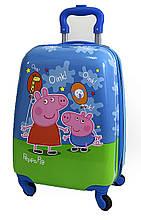 """Детский чемодан дорожный на колесах 16"""" «Свинка Пеппа - 5», 520469"""