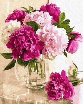 Картины по номерам 40х50 см Brushme Нежные пионы в вазе (GX 34830)