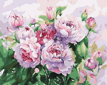 Картины по номерам 40х50 см Brushme Пионы акварелью (GX 34228)