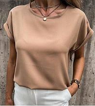 """Летняя женская блузка футболка свободного кроя """"Moment"""" В И"""