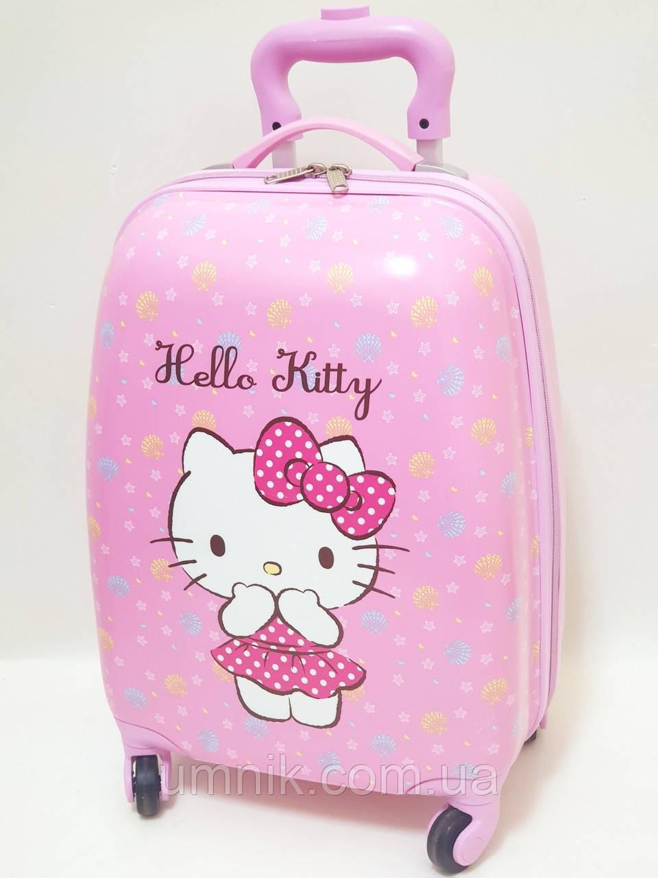 "Детский чемодан дорожный на колесах 16"" «Хелло Китти» Hello Kitty-7, 520413"