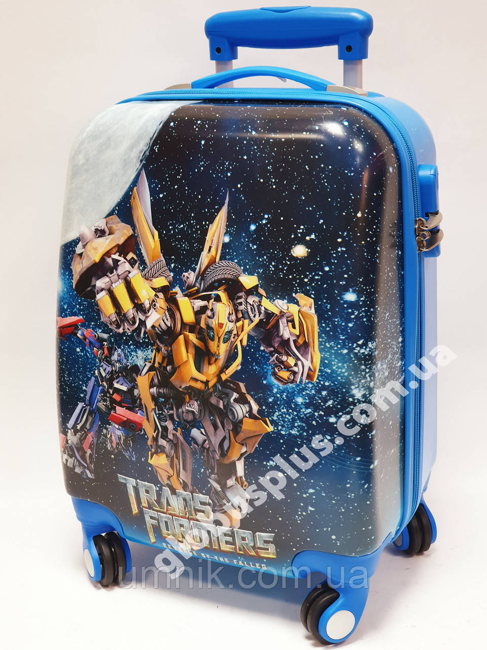 """Детский чемодан дорожный на колесах 18"""" «Трансформер» Transformers-8, кодовый замок, 520440"""