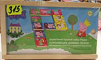 Детские Деревянный игровой набор Peppa – КОРОЛЕВСКОЕ ДОМИНО ПЕППЫ (28 эл-тов 7,5х3,5 см, в деревянной кор.)