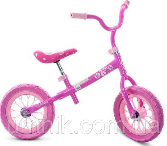 Беговел детский Profi Kids, 12 дюймов, M3255-1, розовый, фото 2