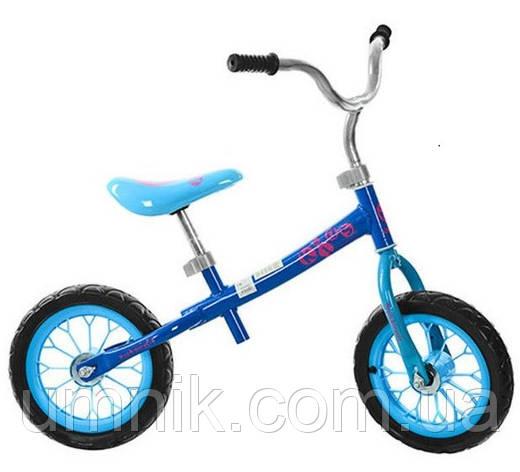 Беговел детский Profi Kids, 12 дюймов, M3255-2, голубой, фото 2
