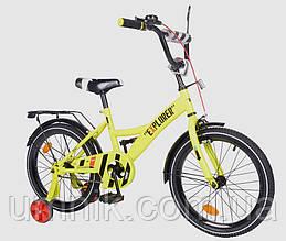 Велосипед детский двухколесный EXPLORER T-218112-YELLOW, 18 дюймов, желтый