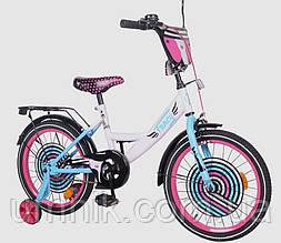 Велосипед детский двухколесный Tilly T-218214 Fancy, 18 дюймов, белый