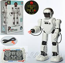 Робот на радиоуправлении, аккумулятор, стреляет присосками, 39 см, 803